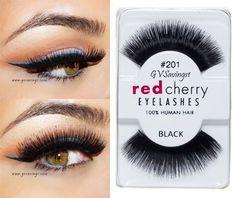 41b6365f5fb (Lot Of Red Cherry False Eyelashes Fake Lashes Eyelash Lash Black Long