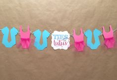 Ties or Tutus gender Reveal baby shower Banner/ Ties and Tutu twin baby shower by papermeblossom on Etsy