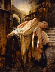 """The Good Samaritan"" by Walter Rane"