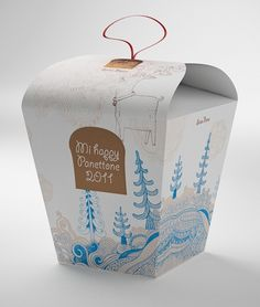 holiday themed Chinese take-out box designed by SeriesNemo