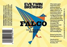 #eviltwin Falco IPA. Yes, please.