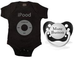I found Kiditude iPood Onesie and Pacifier Set, Black on Wish, check it out!