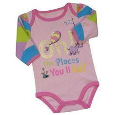 Dr. Seuss Oh!, The Places You'll Go! Infant Girls Bodysuit