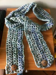 Crocheted Scarf with Buttons - DIY Christmas Gifts  (Katie, Cari, Lyndan, Layne)