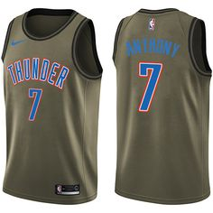 e3743a37a89f Nike Thunder Russell Westbrook Green Salute to Service NBA Swingman Jersey