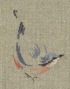 cross stitch nuthatch