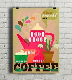 The Smell of Coffee - plakat giclee - Pakamera. Coffee, A4, Posters, Design, Paper, Poster, Kaffee, Cup Of Coffee