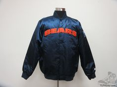 Men's Apparel : Starter Chicago Bears Satin Snap Up Jacket #ChicagoBears #tcpkickz