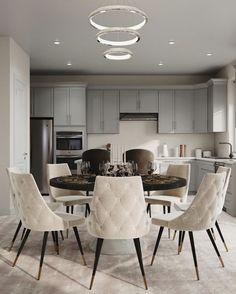 Modern Dining Room Lighting, Luxury Dining Room, Modern Lighting, New Interior Design, Interior Decorating, Modern Kitchen Design, Modern Design, Luxury Decor, Home Decor Inspiration