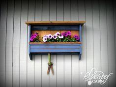 blue roof cabin: Shelf into Planter Box