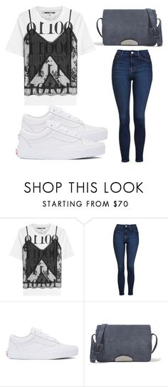 """Untitled #4088"" by evalentina92 ❤ liked on Polyvore featuring McQ by Alexander McQueen, Topshop, Vans and Maison Margiela"
