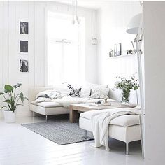 Yay for Friday nights drooling over beautiful interiors like this beautifully textured all white living room by @designlykke. Seriously in love