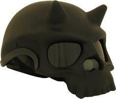 motorcycle Helmets | Skull with Horns Novelty Motorcycle Helmet | Iron Horse Helmets
