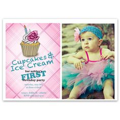 24 best pure hooplas birthday invitations images on pinterest girls cupcakes and ice cream discount personalized custom birthday card from pure hoopla filmwisefo
