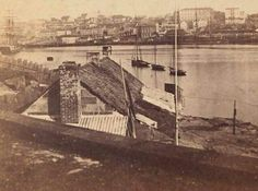The Rocks from Bennelong Point,Sydney in 1859 •State Library of NSW•