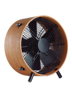This is THE fan for a mid-century decorated room. THE fan. Stadler Form Otto Bamboo Fan by Swizz Style at Gilt