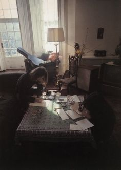 John Lennon  Yoko Ono, songwriters and artists. | 40 Inspiring Workspaces Of The FamouslyCreative