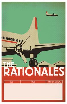 Vintage Art Deco Airplane poster France plane