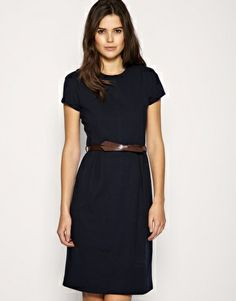 Mango Contrast Belted Dress.