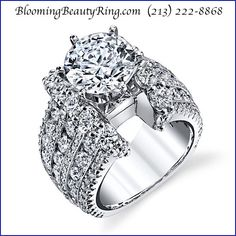 An absolutely stunning diamond #EngagementRing from BloomingBeautyRing.com