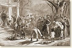 What I'm really interested in are the beautiful homes that were erected on plantations. The life that circulated around these homes early on in america is interesting to think about, and this illustration shows what life on a plantation may have looked like in the early 1800's