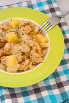 Mijn eigen recept!! Ingezonden door Grietje: Gekruide kip met witlof en ananas.