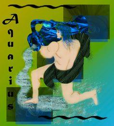 AstroSpirit / Aquarius ♒ / Air / Digital Art