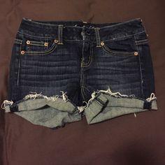 American eagle size 0 shorts Like new American eagle mid rise shorts American Eagle Outfitters Jeans
