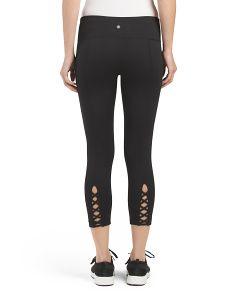 Criss Cross Back Capris Spa Day, Tj Maxx, Active Wear, Black Jeans, Stylish, Criss Cross, Pants, Fashion Design, Shopping