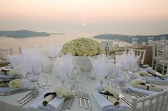 Greece Wedding Reception....love love LOVE this - how stunning!