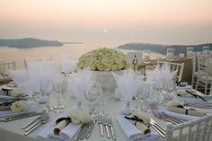 Greece Wedding Reception....love love LOVE this - how stunning!