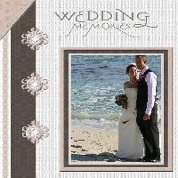 Good 'intro' layout for my wedding scrapbook