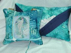 NUDE SHARING CHAMPAGNE With Swans  2 Pillow Set by PillowArtByLee