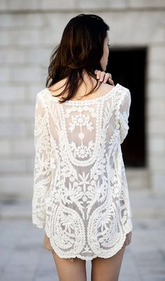 White Embroidered Top by Le Fashion