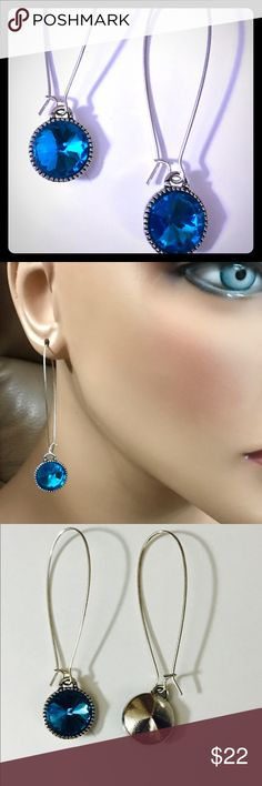 PRICE FIRM!! Swarovski Crystal Earrings Sterling Silver plated ear wires with Swarovski Crystals in beautiful turquoise.  These go with everything and they are simple yet they really are eye catching.  Elongates the neck. Dangle Chandelier Earrings. Aquamarine ocean blue resort wear kidney earrings similar to Swarovski Puzzle Crystal Pierced Earrings Price is as low as I can go, Posh takes half of it! Swarovski Jewelry Earrings