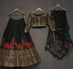 Buy dark green with blest embroidery work & foil work party wear lehenga choli online.This set is features a dark green blouse in dark green fully embellished with crystal, embroidery and sequins work.It has matching dark green lehenga in raw silk wit Indian Fashion Dresses, Indian Designer Outfits, Pakistani Dresses, Indian Outfits, Bollywood Dress, Indian Attire, Indian Wear, Indian Lehenga, Lehenga Choli