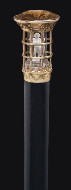 Emperor Napoleon Walking Stick a French topaz, yellow gold, and acid etched rock crystal cane. Cannes, Cool Canes, Raising Canes, Cane Handles, Cane Stick, Walking Sticks And Canes, Parasols, Objet D'art, Wood Carving