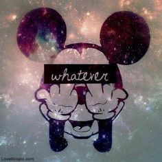 whatever funny cute sparkles mickey mouse whatever middle finger