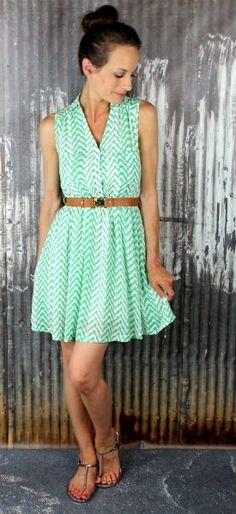 Home > Dresses >       Zag It To Me Flirty Dress