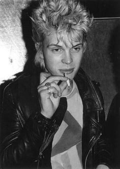 """hellyeahbillyidol: """" A young Billy Idol photographed by Ebet Roberts """""""