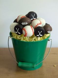 Sports Bucket (Baseballs, Footballs, Golf Balls & Hockey Pucks)