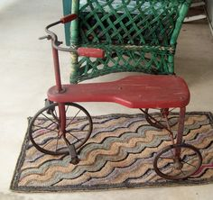Vintage Red Tricycle Amazing Condition Turn of Century Collectable Antique Bike