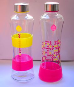 another side of me: October favorites <3 SQUEEZE Yellow and SQUEEZE Magenta fashionable glass water bottle.