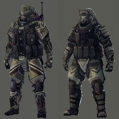 Marine and Commander by Kwibl.deviantart.com on @deviantART