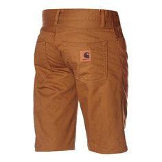 CARHARTT WIP Klondike II Short Alabama hamilton brown rinsed slim fit