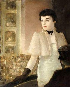 Portrait of Leta Cromwell (at the Opera) - Edzard Dietz, German, 1893-1963 Oil on canvas