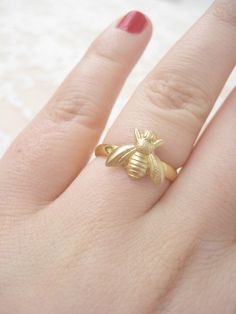 Bee Ring by ClementinesJewelry on Etsy, $14.00