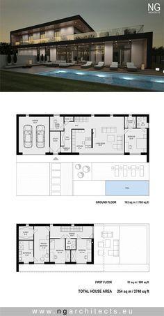 Modern Home Design Plans . Modern Home Design Plans . Pin On Modern House Plans Sims House Plans, House Layout Plans, New House Plans, Dream House Plans, Modern House Plans, House Floor Plans, Modern Architecture House, Architecture Plan, Modern House Facades