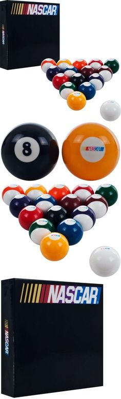 Complete Ball Sets 75193: Nascar Billiard Balls Pool Table Supplies Game  Room Accessory Set Of