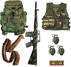 Kids-Army.com - Junior Platoon Recon Set - Woodland Camouflage, $79.99 (http://www.kids-army.com/toy-hand-grenades-set-of-3/)